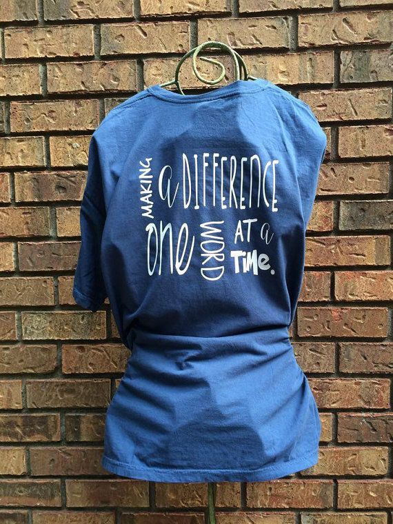 Making a difference Speech therapy shirt
