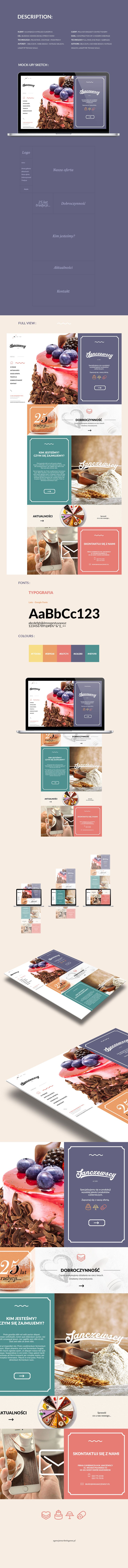 Biggest Polish Confectionery One Page Website on Behance