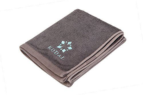 Copper Bamboo Antibacterial Hand Towels - Super Absorbent and Quick Drying Towels for Sports, Bathroom, Travel, Gym, Camping (Light Blue & Gray)