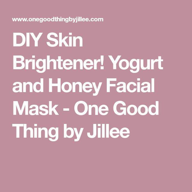 DIY Skin Brightener! Yogurt and Honey Facial Mask - One Good Thing by Jillee