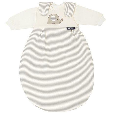 Der 3-teilige Ganzjahres-Schlafsack Baby Mäxchen Super Soft von Alvi besteht aus einem kleinen ...