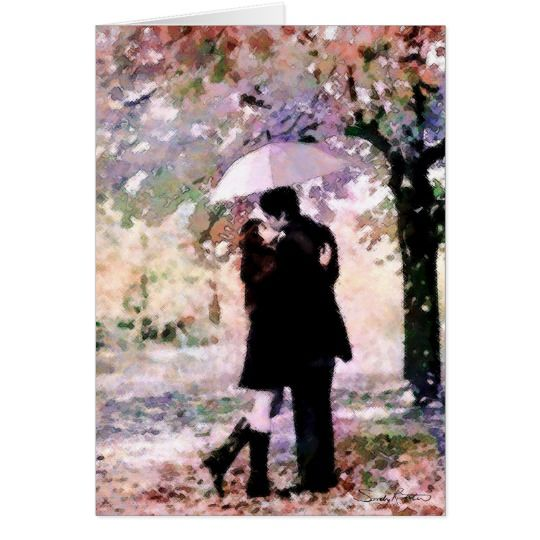 Rainy Day Lovers Greeting Card available at Zazzle