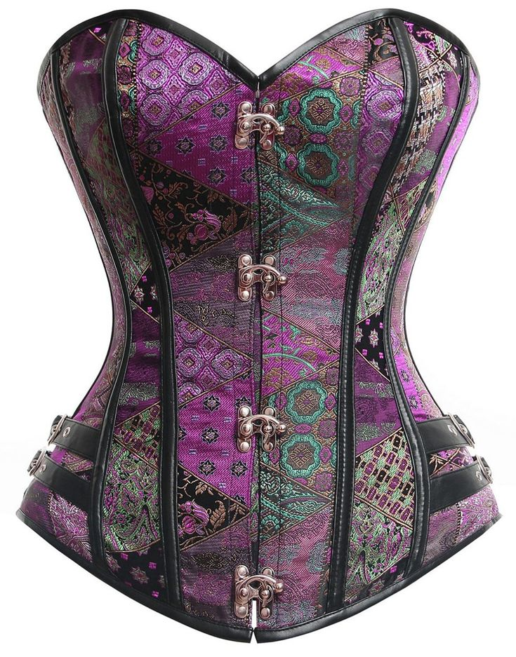steampunk gothic retro vegan corset from selectafashion.com