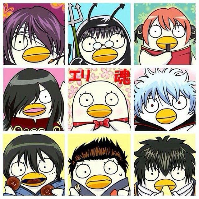 Gintama, Gintoki, Takasugi Shinsuke, Katsura Kotarou, Zurako, Elizabeth, Kagura, Shimura Shinpachi, Hijikata Toushirou, Kondo Isao, Yamazaki Saguru