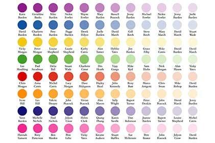 Colour Palette Table Plan #tableplan