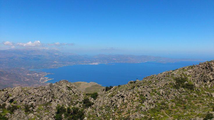 View from Afendis Stavromenos - Thrypti mountains to Mirabello bay and Agios Nikolaos
