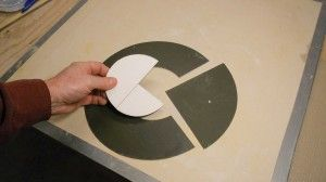 how to cut and use templates for slab ceramics. #ceramics #pottery