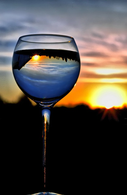 nothin better than wine & a beautiful sunset.