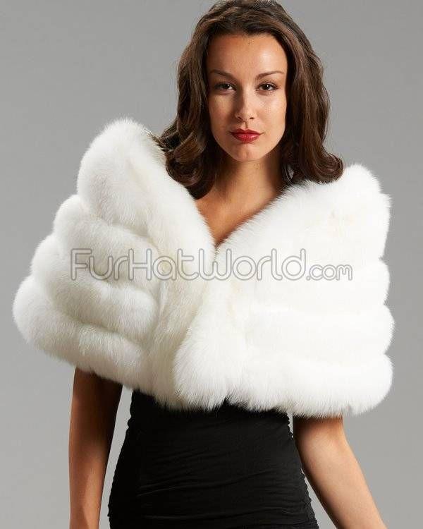 Der fiona wei vier tier pelz stola fox fur fur stole and classic - Stoel fur ...