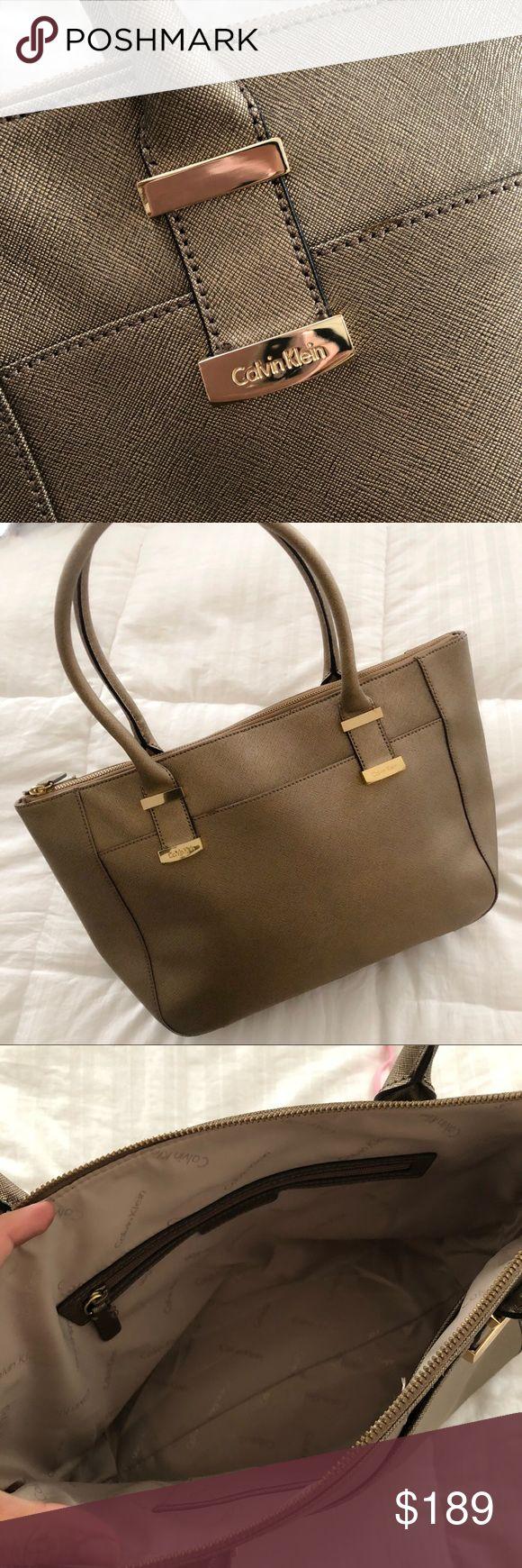 "NWOT- Calvin Klein Metallic Gold Shoulder Bag NEW NEW NEW - No tag but never worn. 17""x10.5""x6"" Calvin Klein Bags Shoulder Bags"