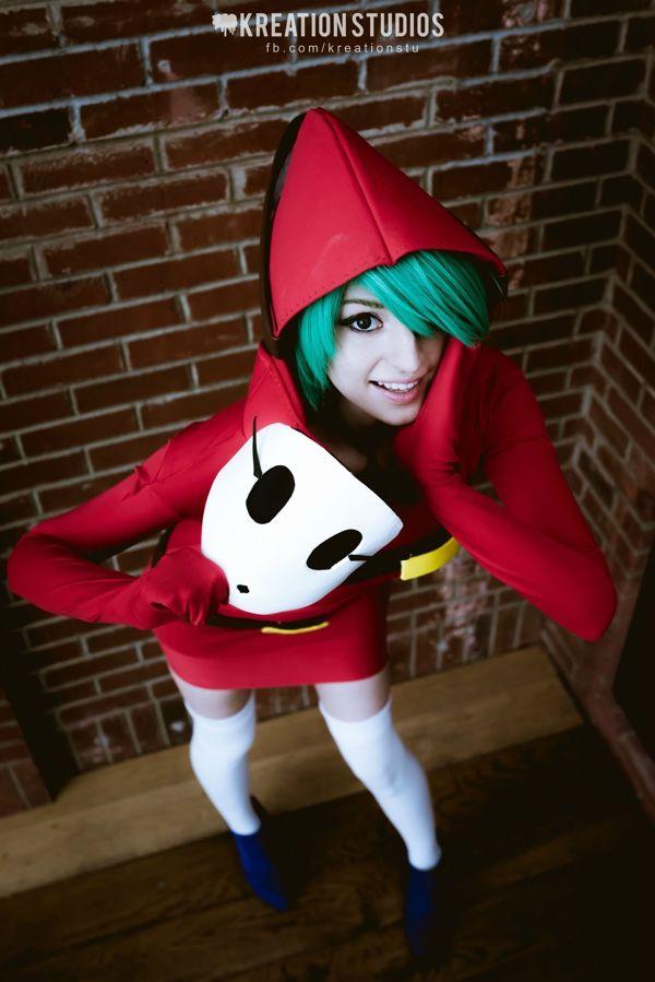 Shy Guy…Uh Gal Cosplay http://fashionablygeek.com/costumes/shy-guy-uh-gal-cosplay/