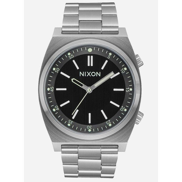 Nixon Brigade Watch ($200) ❤ liked on Polyvore featuring jewelry, watches, stainless steel wrist watch, nixon watches, stainless steel watches, nixon wrist watch and nixon jewelry