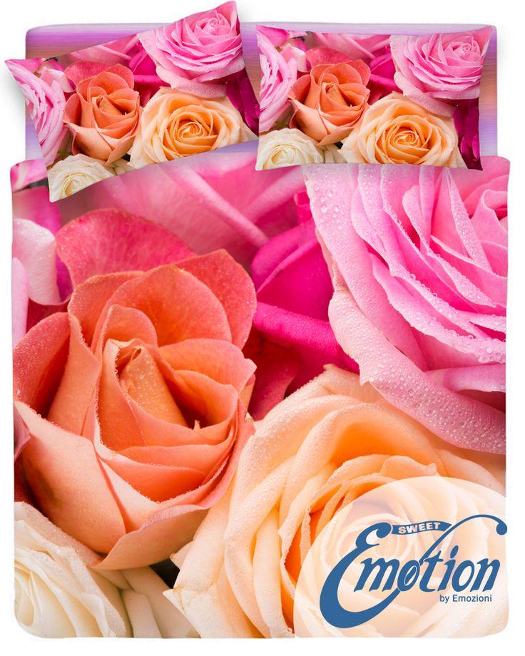 Digital Dream // Variante #Roses #lenzuola #coppiafedere #copripiumino #trapunta www.sweet-emotion.it