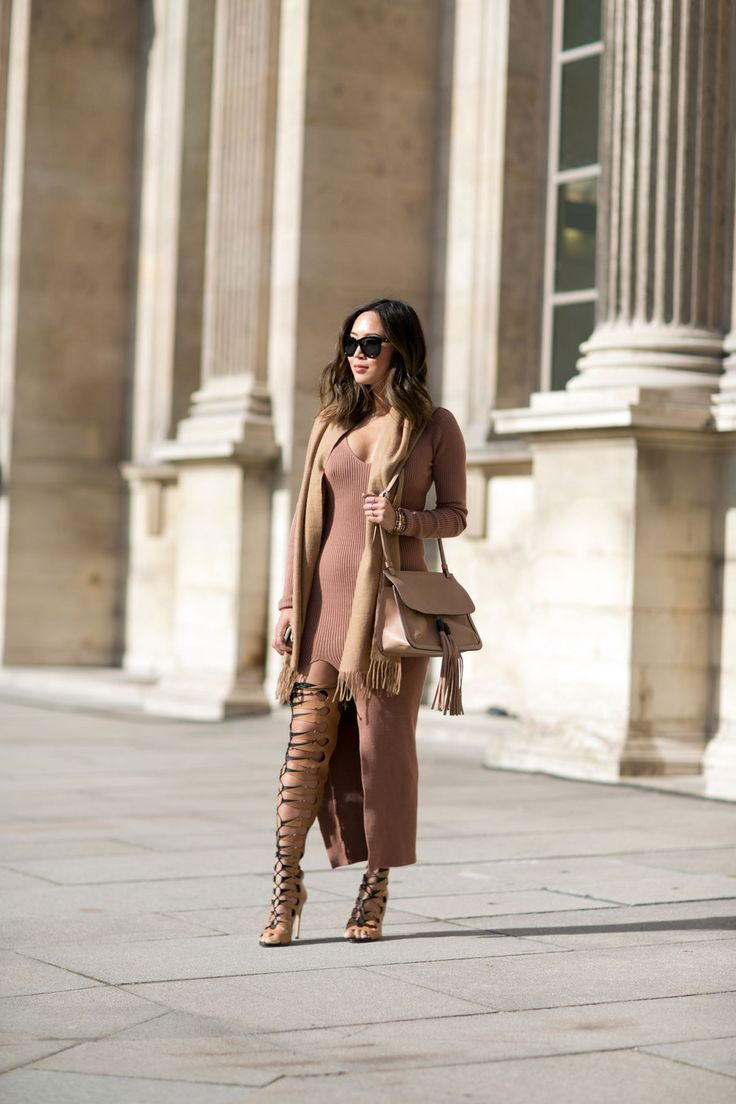 #AimeeSong sexy lace up boots. Paris Nicole Warne