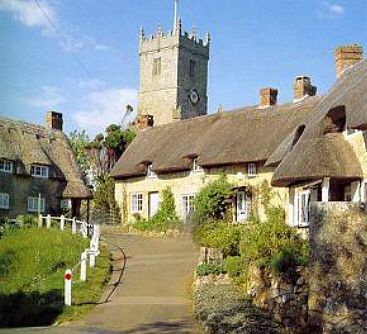 Thatched cottages on the Isle of Wight - like a storybook vision of English country life, except that it's real.