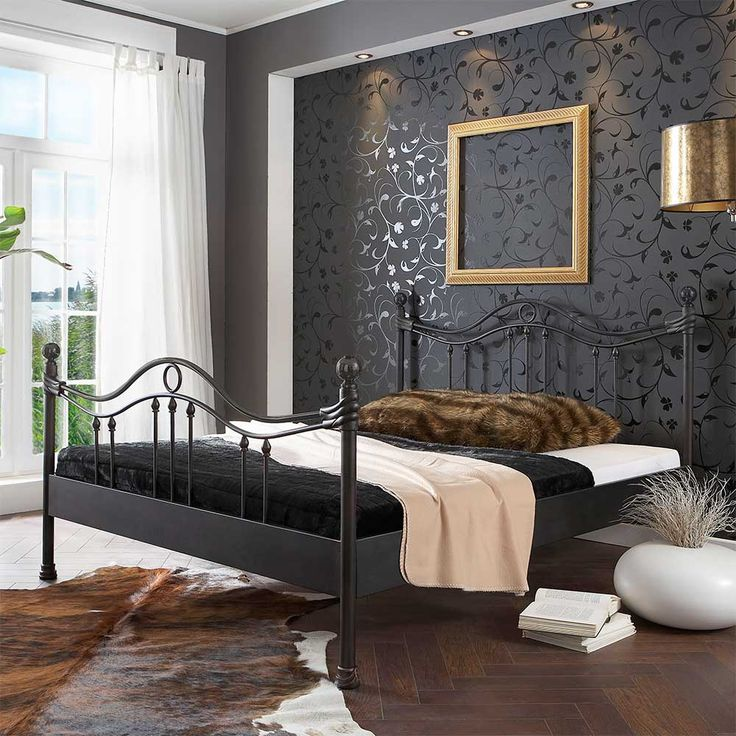 Die besten 25+ Bett metall Ideen auf Pinterest Metallbettrahmen - dekorationsideen wohnzimmer braun