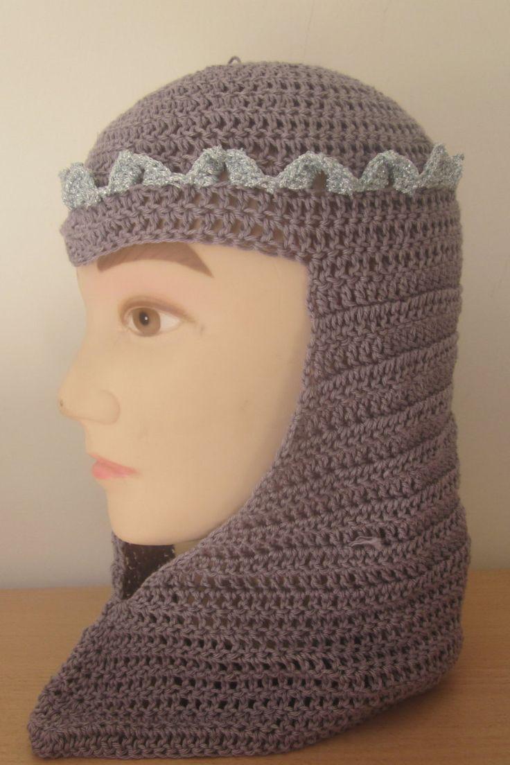 Best 25 knights helmet ideas on pinterest faschingshut kinder crochet chainmail knight helmet adult size larp headgear by knightwhosaidknit on etsy bankloansurffo Image collections