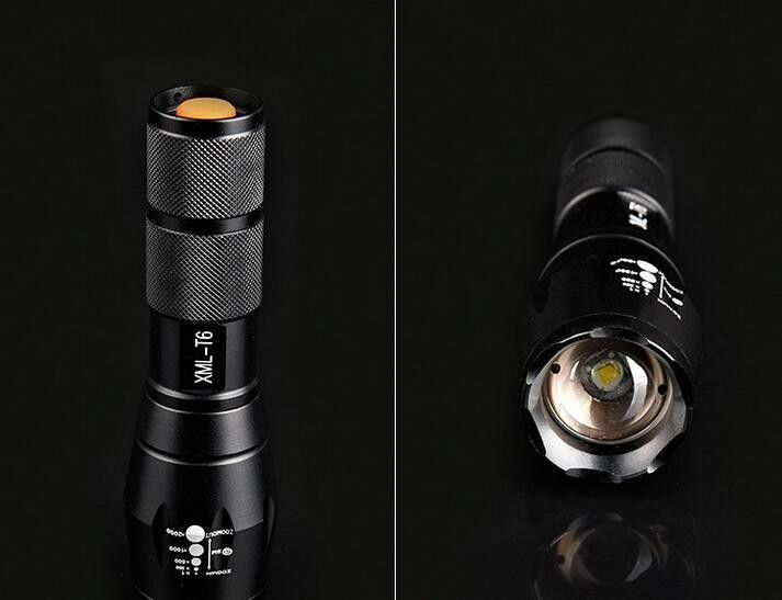 CREE XML T6 2000Lumens High Power LED Torches Zoomable Tactical LED Flashlights torch light for 3xAAA or 1x18650 battery(not include)
