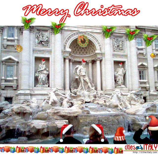 #Merry #Christmas from Rome! Pin it to wish Happy Holidays to everybody :-) Trevi Fountain, #Rome, #Italy