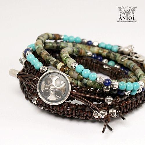 NOMADA (leather strap) -komplet bransolet / Anioł / Biżuteria / Dla mężczyzn
