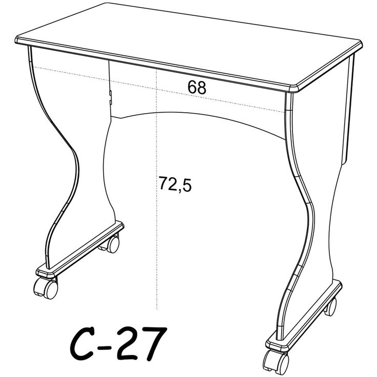 Mesa para Computador Dobravel C27 Nn Nobre Fosco - Dalla Costa - Foto 2