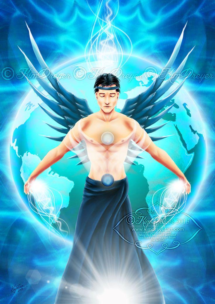 Archangel Raguel - Sacred Light Visions - The Art of Kim Dreyer