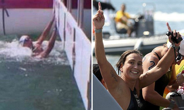 French Aurelie Muller stripped of her title in women's 10km swim #DailyMail