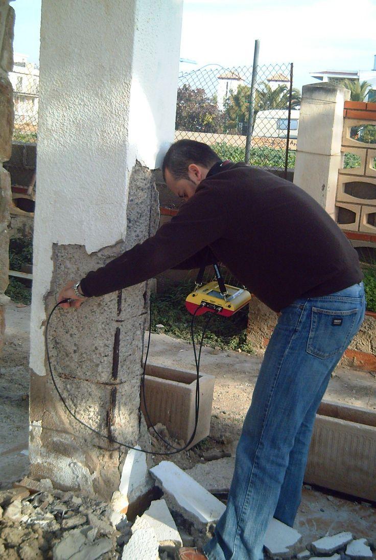 Inspección estructural mediante ultrasonidos y medición perdida de seccion y carbonatación y corrosión. www.mglobal.es