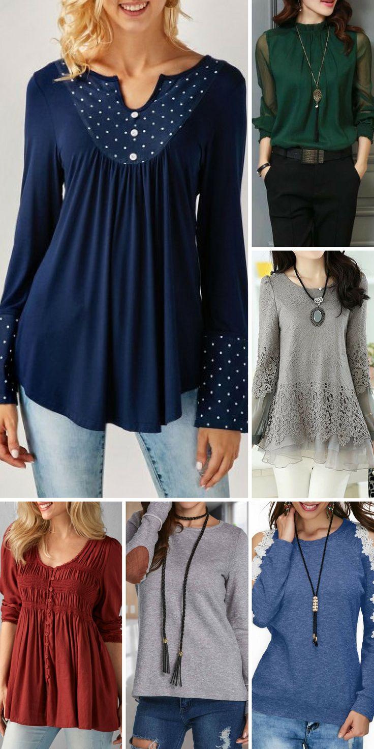 Fall blouse for women.