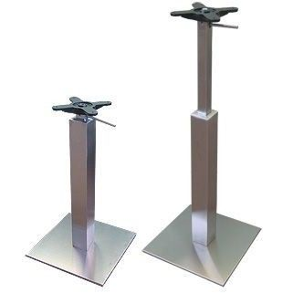 Tracon Height Adjustable Gas Lift Table Base   Brushed Steel Base