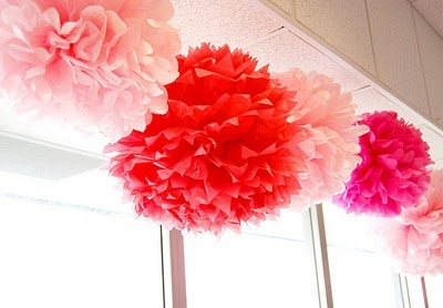 Hanging Decorations: Shower Ideas, Baby Girls Shower, Decor Ideas, Paper Pom Pom, Pompom, Paper Flowers, Bridal Shower, Tissue Paper, Baby Shower