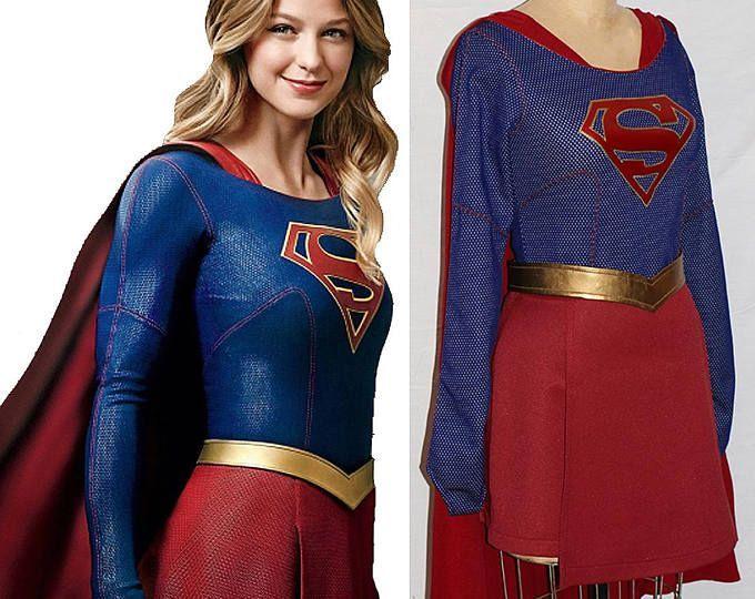 Supergirl Costume Replica... Melissa Benoist Super Girl Costume TV Series Costume... Choose your Style/Price