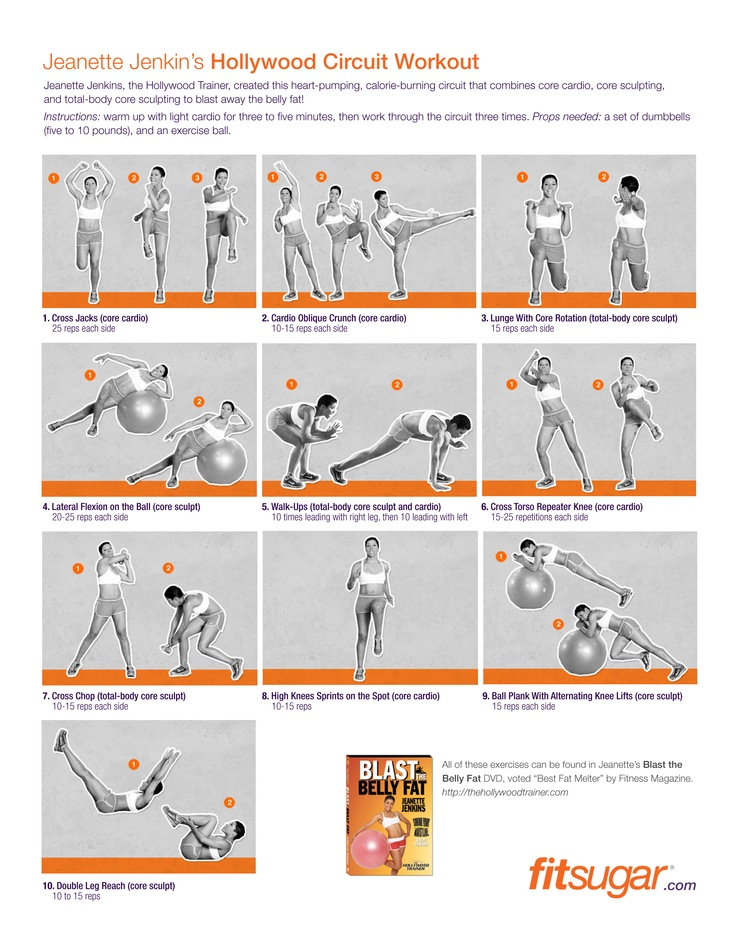 Jeanette Jenkins Hollywood Circuit Workout Health Fitness Motivation Circuit Workout Friday Workout