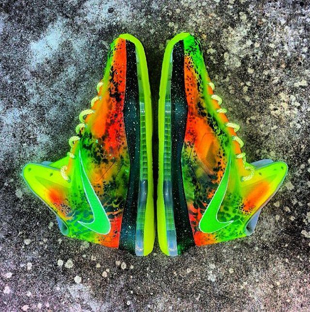 Nike LeBron 10 'Highlighter' Customs For Joe Haden