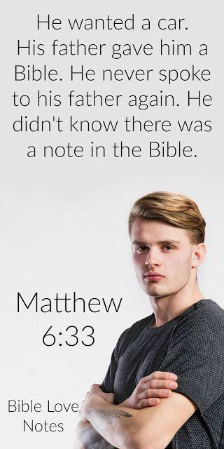 A Story That Packs a Punch - Matthew 6:33