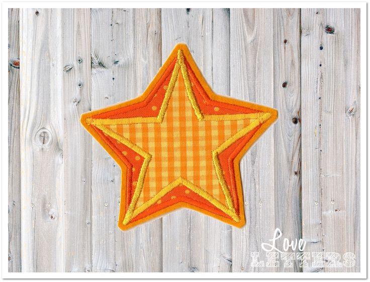 Aufnäher - Stern Applikation zweifarbig gelb orange Aufnäher - ein Designerstück von Love_Letters bei DaWanda