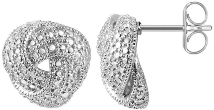 Zales Diamond Accent Vintage-Style Love Knot Stud Earrings in Sterling Silver o8MWhc1