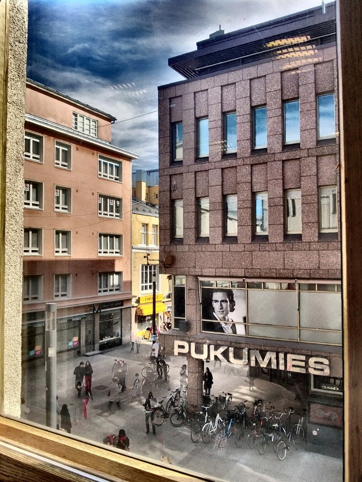 Lumia 920, HDR-app. A view from a window of McDonald's Oulu. HDR process: intense. Photo: Auvo Veteläinen.