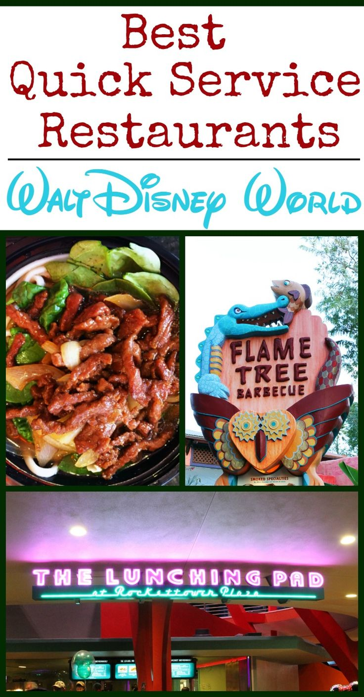 Want to know the best Quick Service Restaurants at Disney World? There are so many to choose from! We've listed a few of our favorites and why we think you'll love them too. Check out our list and see if it matches yours!