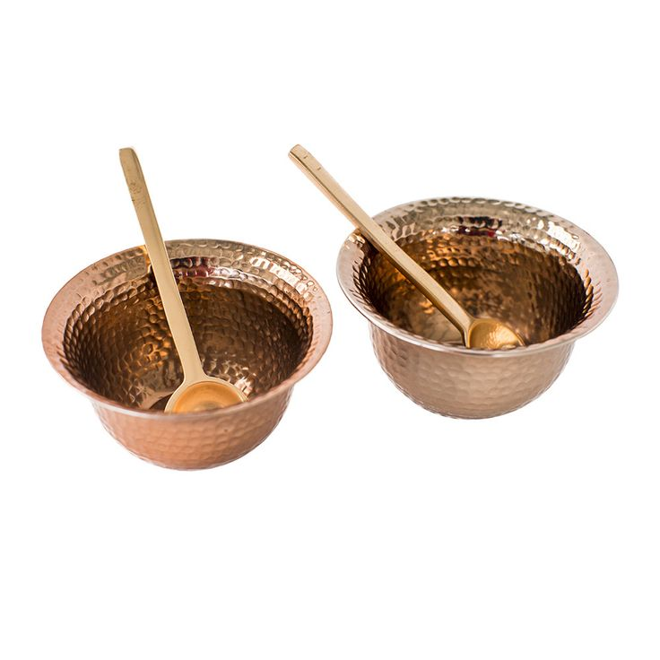 Discover the The Just Slate Company Copper Condiment Set - Set of 2 at Amara