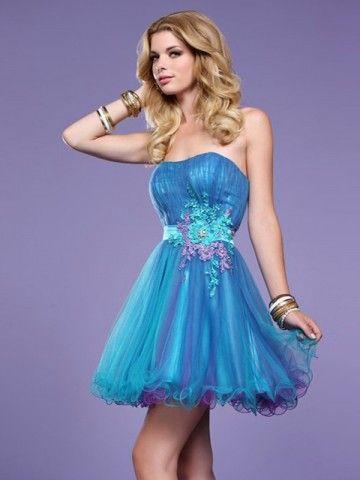 Love the blue dress!Cocktails Dresses, Homecoming Dresses, Blue, Strapless Dress, Shorts Dresses, Graduation Dresses, Prom Dresses, Winter Formal, Dresses Prom