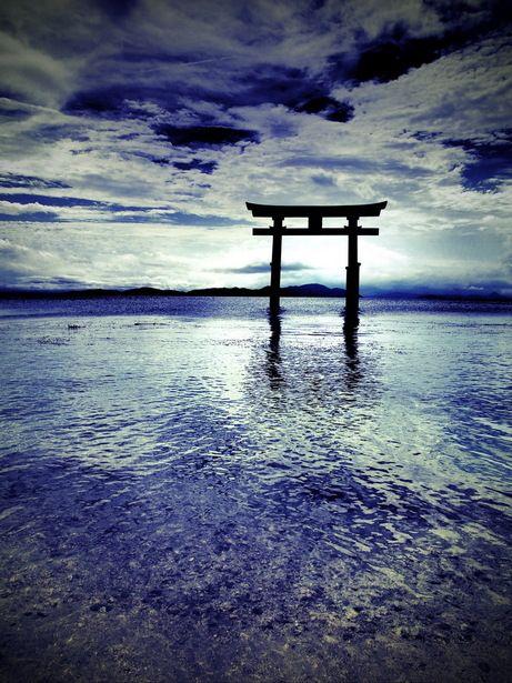 Shirahige shrine at Lake Biwa, Japan 白髭神社