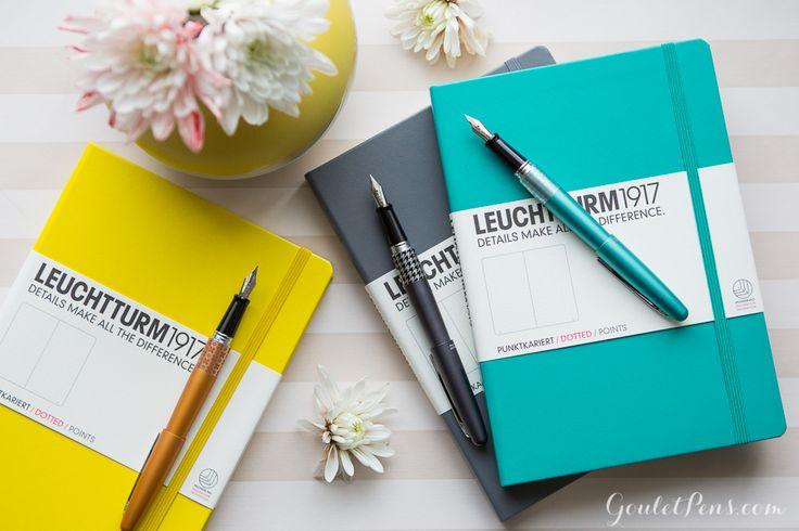 Bullet Journaling Starter Set at Goulet Pens - includes a dot grid Leuchtturm1917 notebook, Pilot Metropolitan, and ink cartridges. You choose the colors!