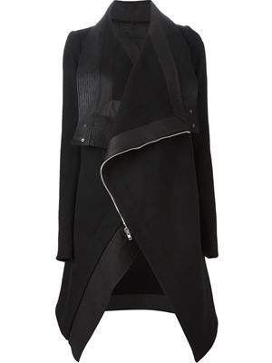 RICK OWENS - oversized biker coat