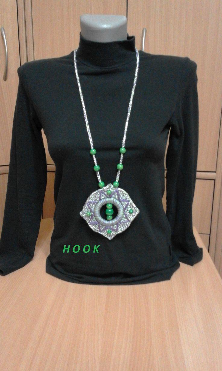 Crochet Necklace made bu Lidija Farago-Hook