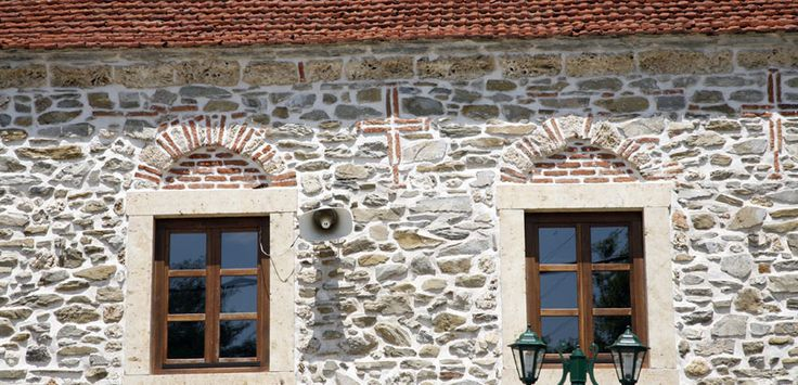 Church wall details in Agios Prodromos #Halkidiki #Greece #Architecture
