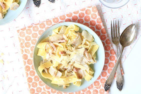 Pasta met witlof en spekreepjes – 5 OR LESS