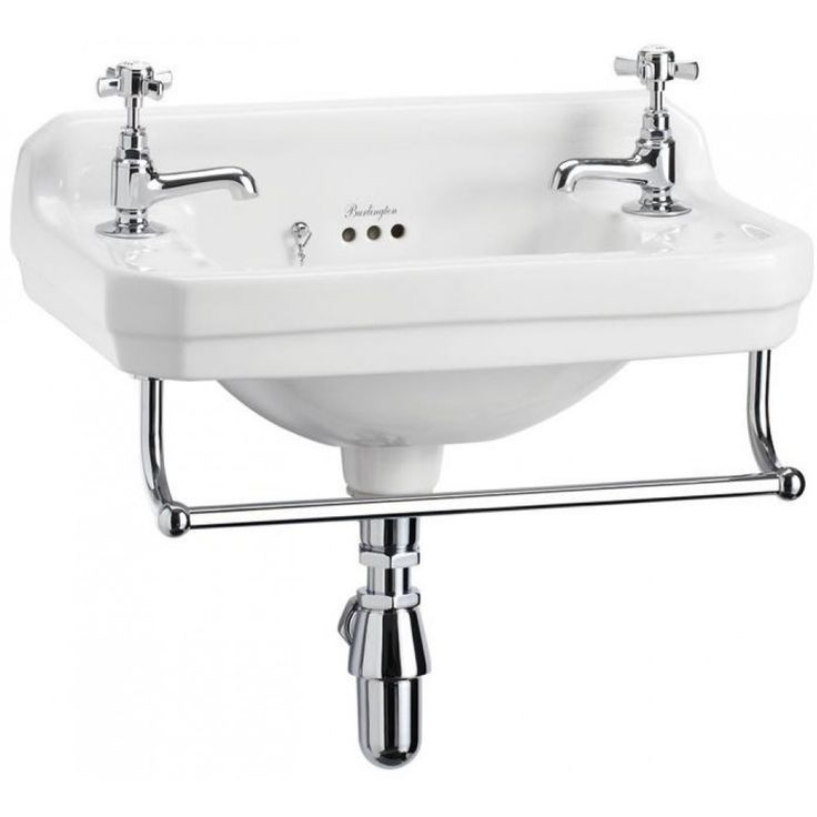 FOR SMALL WC DOWNSTAIRS? Basins | Burlington Edwardian Cloakroom Basin 51cm 2TH - White