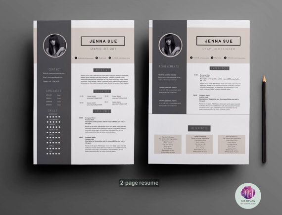retail cv template retail cv template   page resume  two page     Pinterest Stylish Resume Template for Word