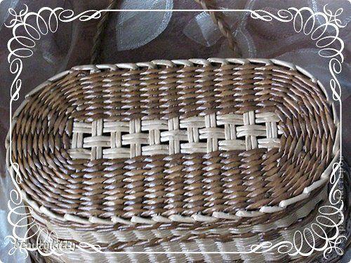 Поделка изделие Плетение Наконец-то у меня сумка Кружево Пуговицы Ткань Трубочки бумажные фото 3
